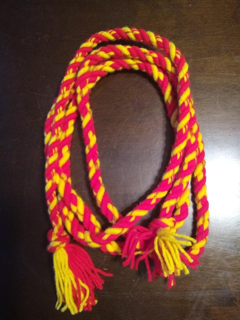 and Yellow Rope Belt Red Rust Orange