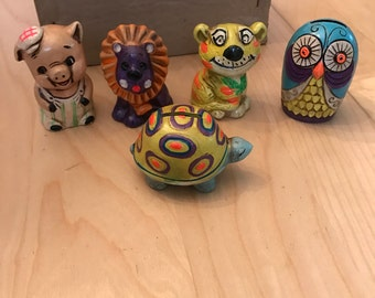 R 1960u0027s Chalk Ware Style Ceramic Animal Banks