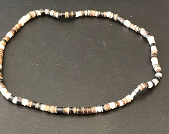 Vintage Hishi beaded necklace choker hand made