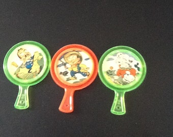 1960's  three dime store children's mirrors with characters