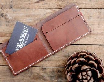 Bi-Fold Wallet / Leather / Walnut