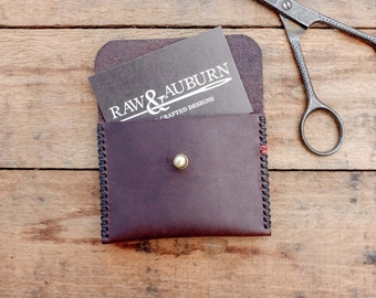 Small Leather Wallet / Purse / Dark Brown