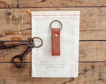 Leather Fob / Key Ring / Lanyard / Walnut