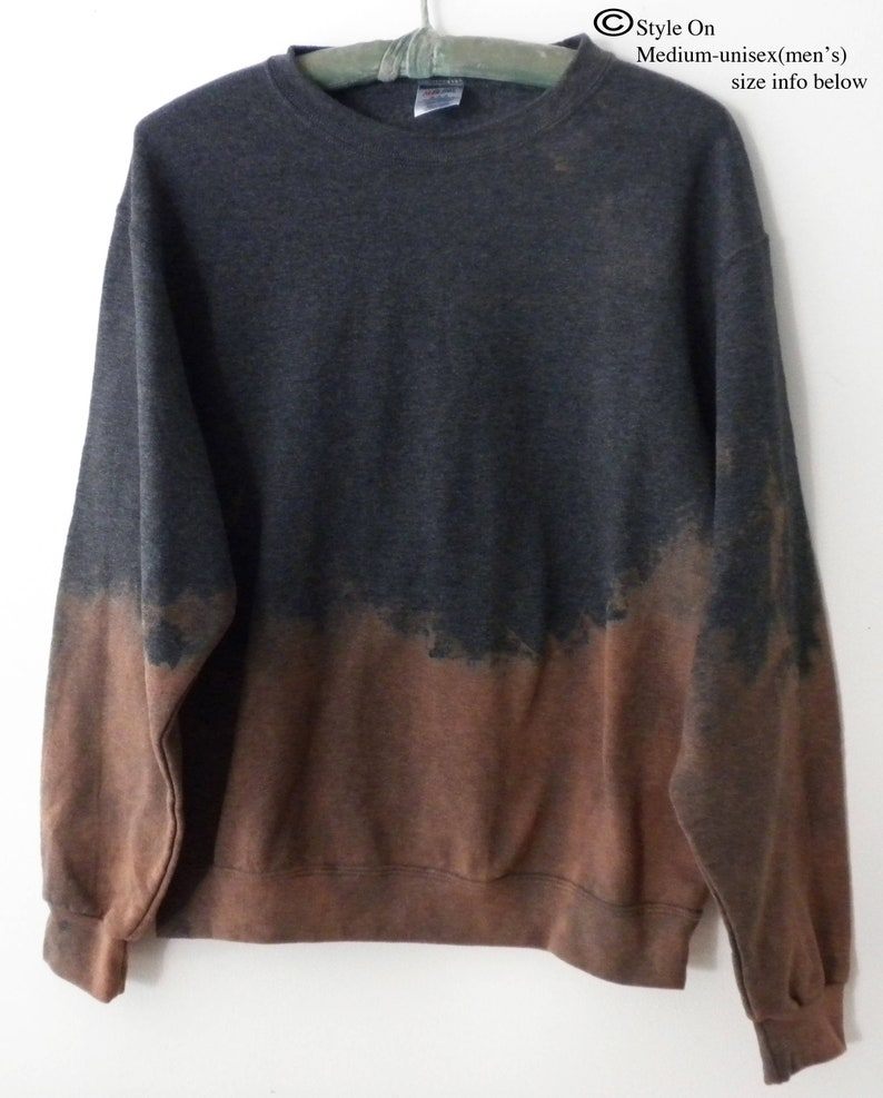 07f76bb8 Acid Wash Sweatshirt Gray crewneck sweatshirt tie dye | Etsy