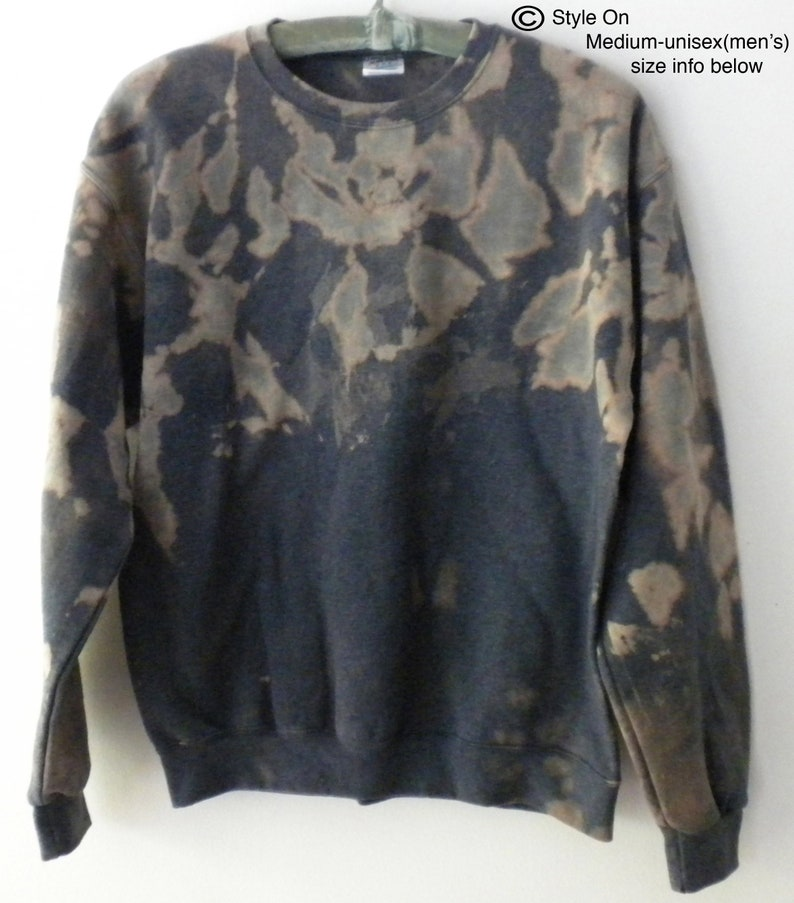 8e42f6e3 Tie dye Gray Sweatshirt Blue crewneck sweatshirt Pink acid | Etsy