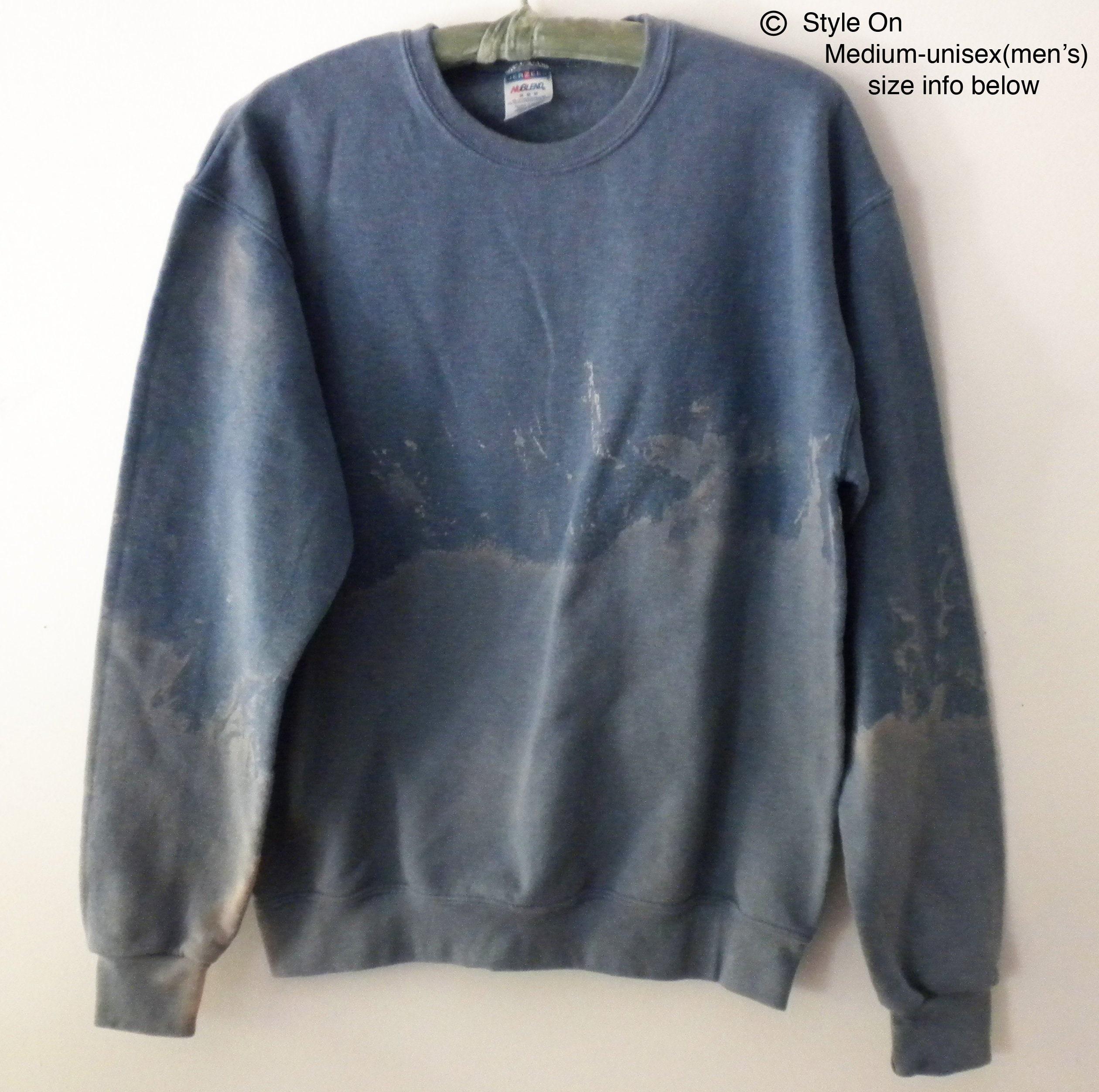 579b2631 Tie dye Blue Sweatshirt Acid wash sweatshirt crewneck | Etsy