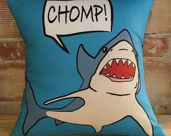 Blue Shark Print Pillow Case