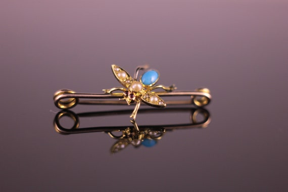 Antique Victorian Insect Fly Pin Brooch