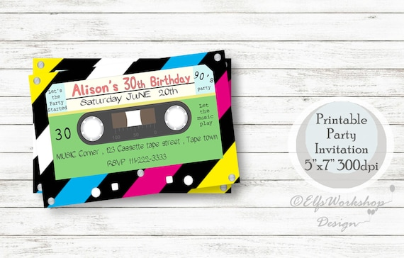 Kassette Einladung Kassette Geburtstags Einladung Musik Der