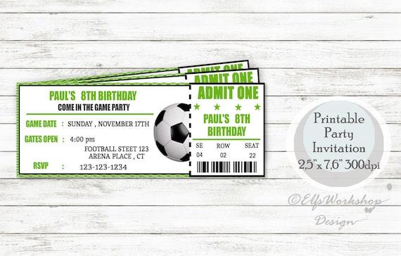 Invitation Anniversaire Foot Invitation De Soccer Invitation Etsy