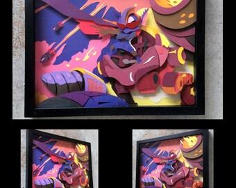 "11""x14"" Super Galaxy Rumble Shadowbox"