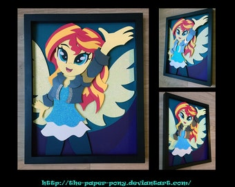 11x14 Sunset Shimmer Shadowbox