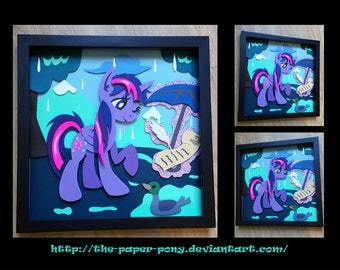 "12"" x 12"" Wet Mane Twilight Sparkle Shadowbox"