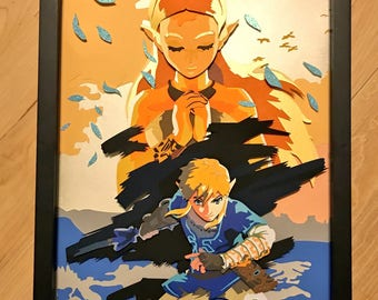 11 x 14 Breath of the Wild Shadowbox
