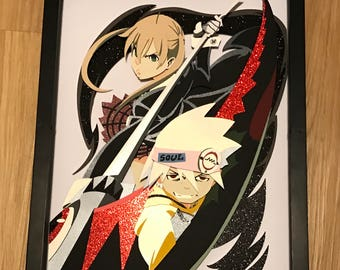 11x14: Soul Eater Soul and Maka Shadowbox
