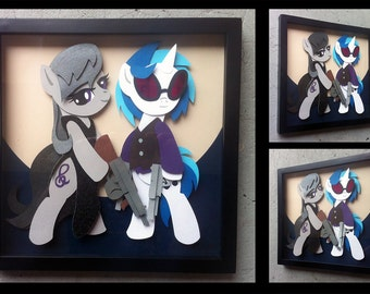 "12"" x 12"" Mafia Vinyl Scratch and Octavia Shadowbox"