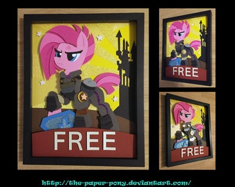 "11""x14"" War Pinkie Pie Poster Shadowbox"