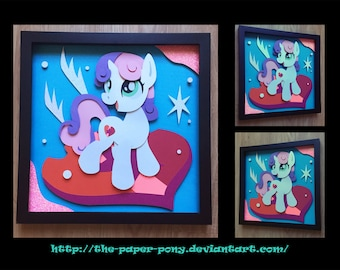 12x12 Cutie Mark Sweetie Belle Shadowbox