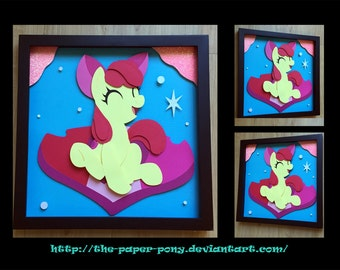12x12 Cutie Mark Applebloom Shadowbox