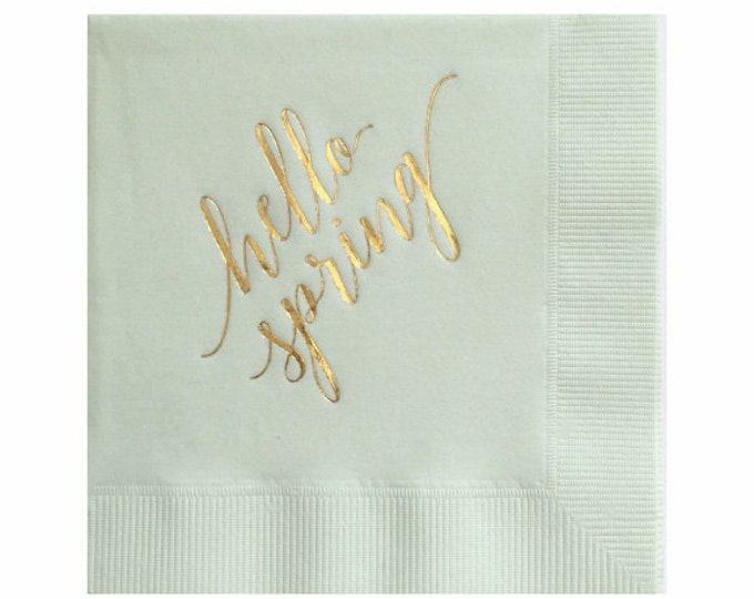 Hello Spring Napkins - Set of 20
