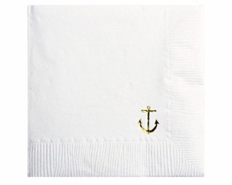 Anchor Napkins - Set of 20