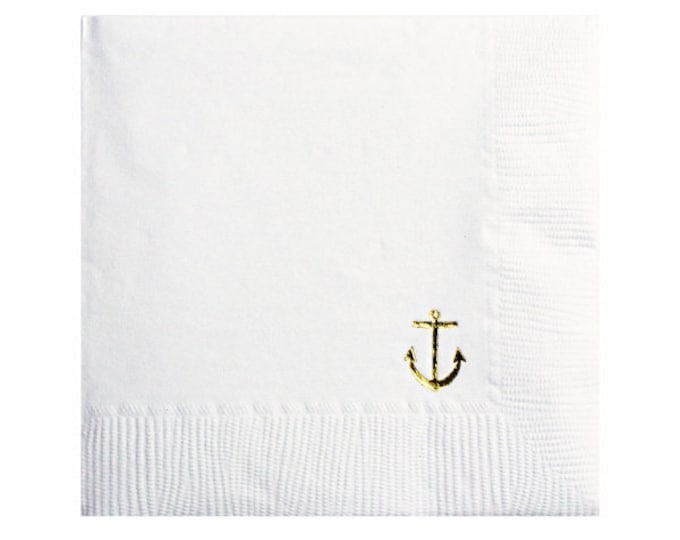 Anchor Napkins - Set of 20