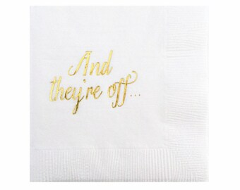 And They're Off Napkins - Set of 20