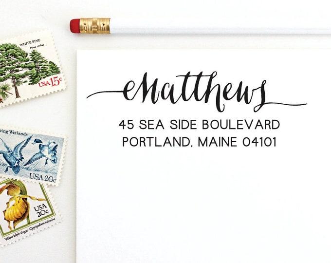 Address Stamp - Matthews