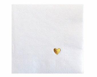 Heart Napkins - Set of 20