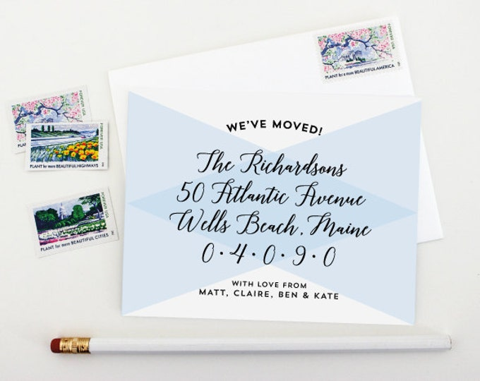 Moving Announcement - Change of Address - New Home - Housewarming Invitation