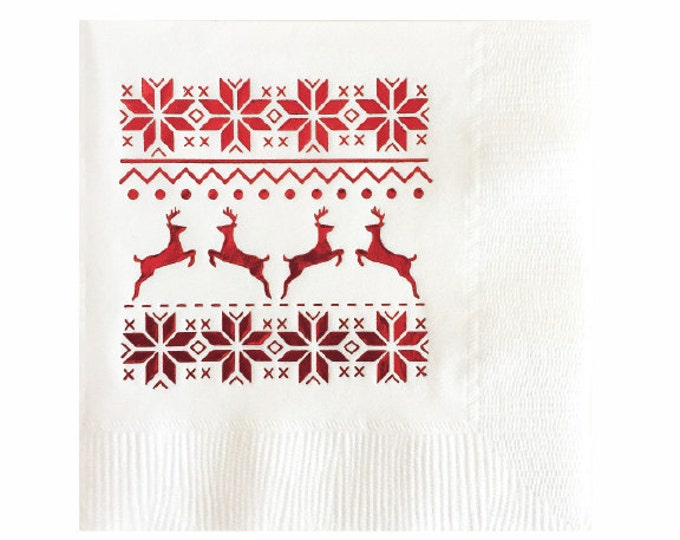 Fair Isle Napkins - Set of 20