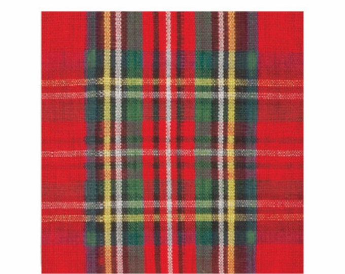 Classic Plaid Cocktail Napkin - Set of 20