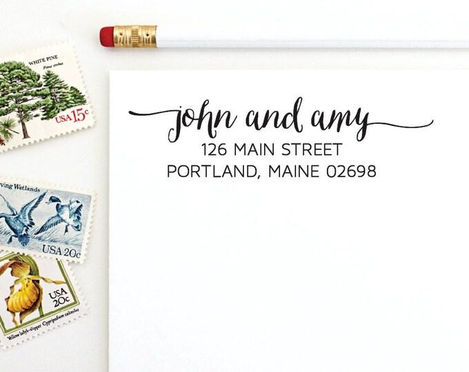 Address Stamp - John and Amy