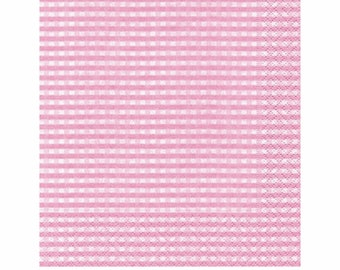 Classic Gingham Cocktail Napkin - Set of 20