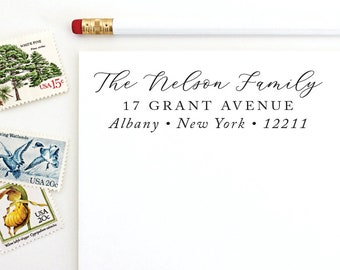 Address Stamp - The Nelson Family