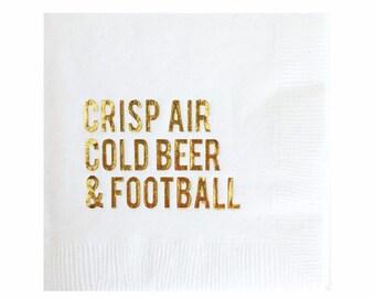 Football Napkins - Set of 20