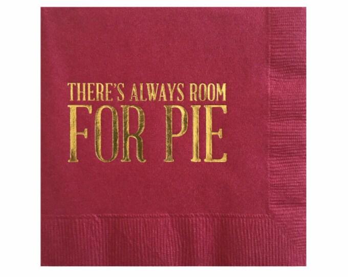 Thanksgiving Dessert Napkins - Pie Napkin - Gold Foil Napkins