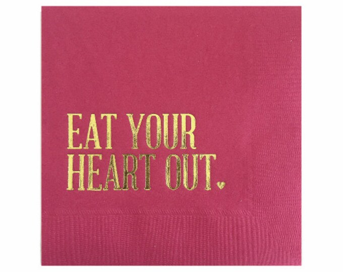 Eat Your Heart Out Napkins - Set of 20