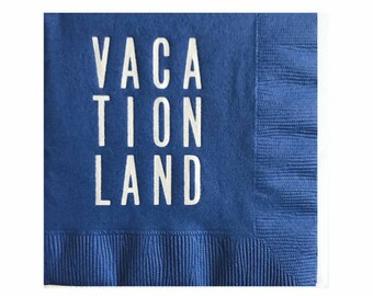 Vacationland - Maine Cocktail Napkins - Set of 20