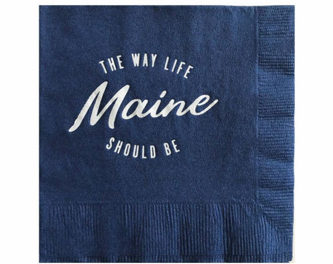 Maine Cocktail Napkins - Set of 20