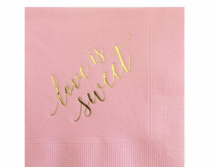 Love is Sweet Napkins - Set of 20