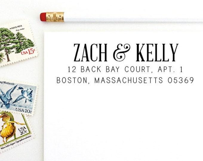 Address Stamp - Zach & Kelly