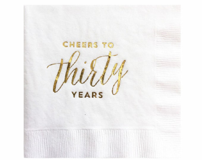 Cheers to Thirty Years Napkins - Set of 20