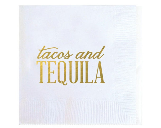 Tacos and Tequila Napkins - Set of 20