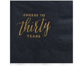 Cheers to Thirty Years Napkins - Set of 20