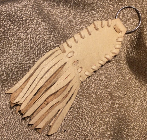6d66d4ad12648 KC11 Laced Fringed LEATHER KEY Chain Motorcycle Biker | Etsy