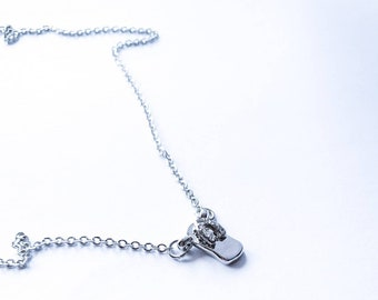 Silver Flip Flop Necklace
