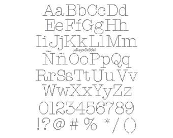 Typewriter font | Etsy