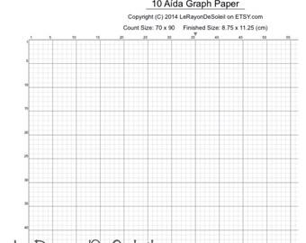 aida 10 cross stitch graph paper grid template