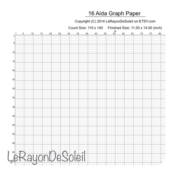 items similar to aida 16 cross stitch graph paper  grid template  on etsy